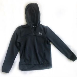 UNDER ARMOUR youth black hoodie size L. EUC
